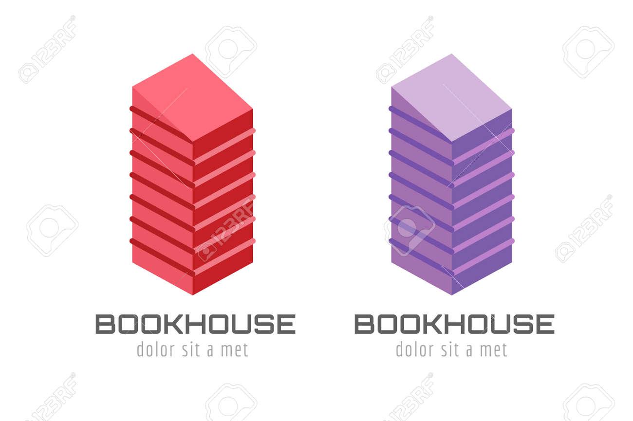 Libro Rascacielos Plantilla Logotipo Icono. De Vuelta A La Escuela ...
