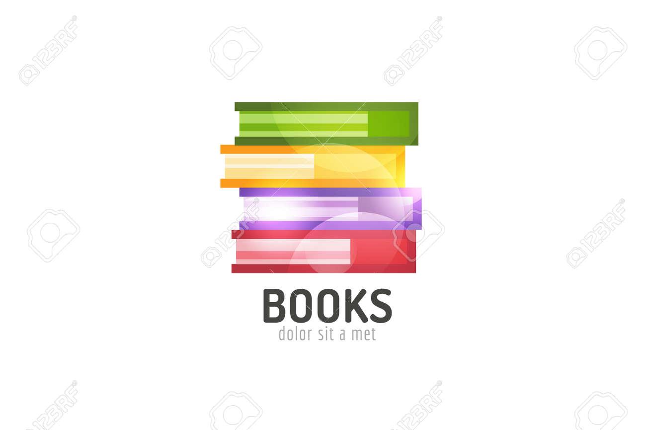 Buch Schablone Firmenzeichen-Symbol. Zurück Zur Schule. Bildung ...