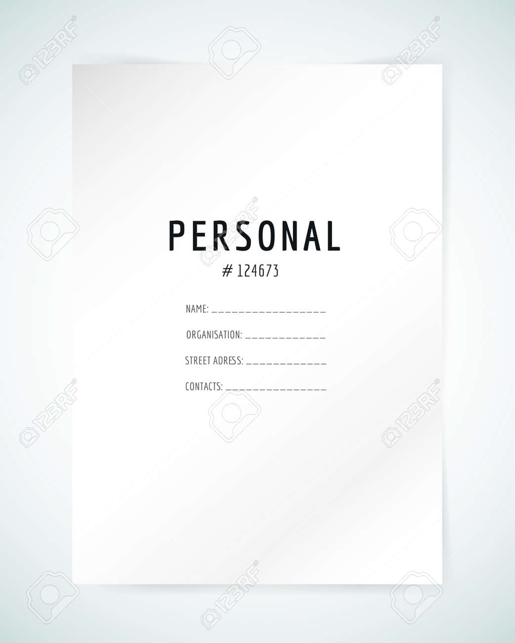 Form blank template business folder paper and print office form blank template business folder paper and print office personal information friedricerecipe Image collections