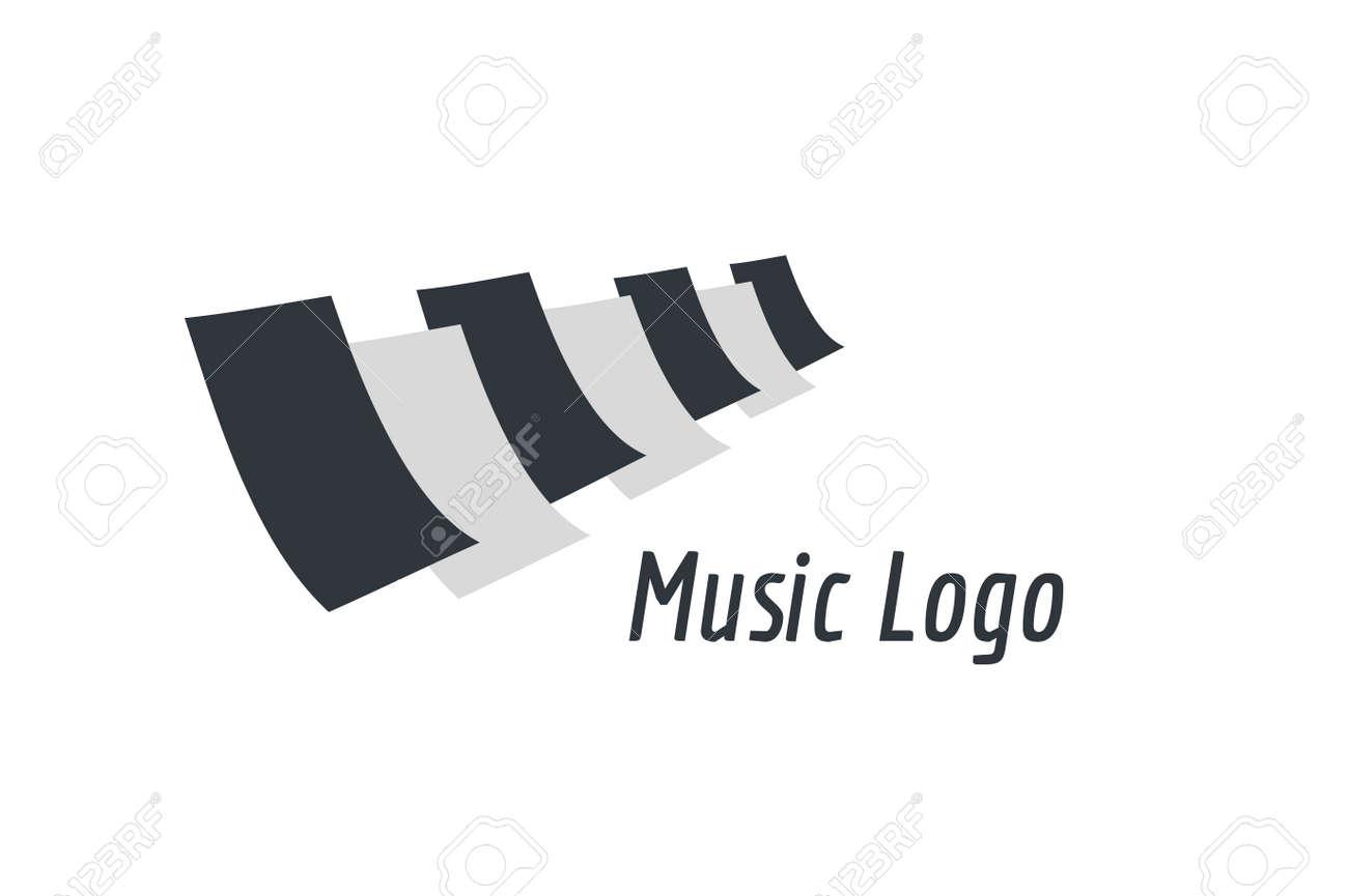 Teclas De Piano Música Logo Icono De Plantilla. Melody, Clásico ...