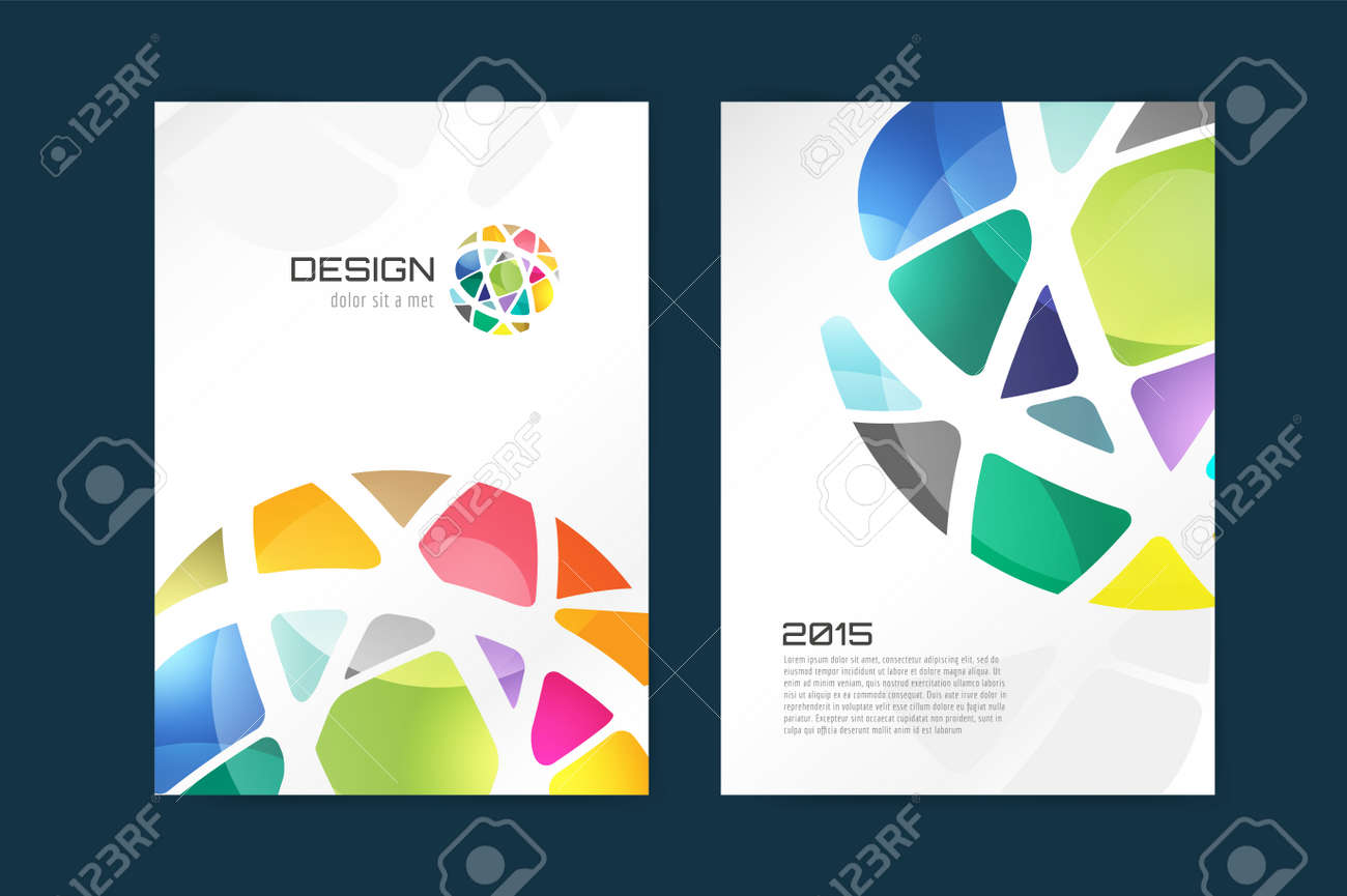 Vector Globe Brochure Template. Abstract Arrow Design And Creative ...