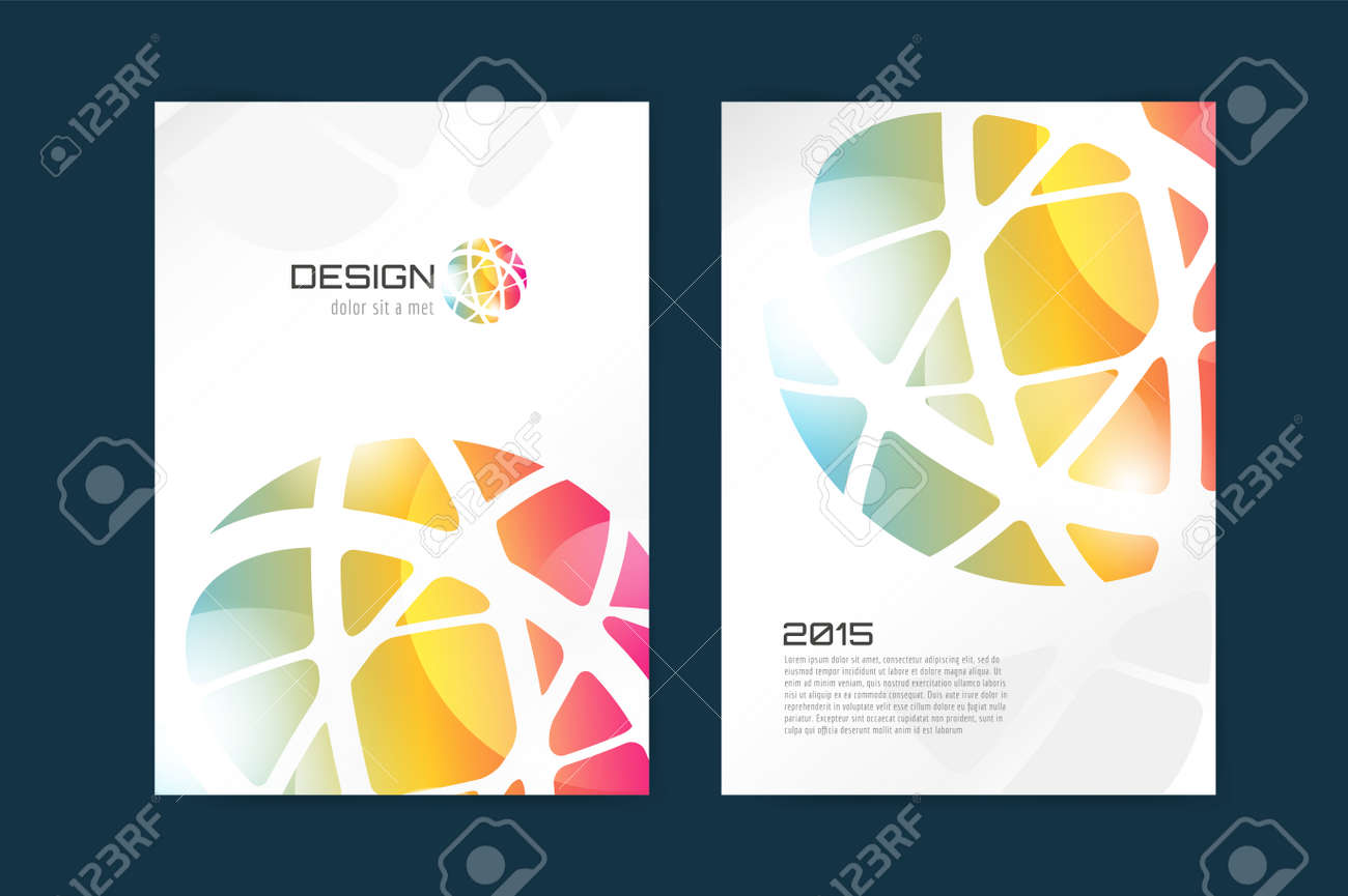 Vector Globe Brochure Template. Abstract Arrow Design And Creative ...