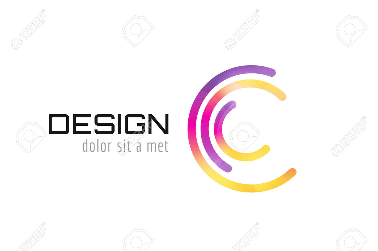 Vector c logo template abstract circle shape and symbol icon vector c logo template abstract circle shape and symbol icon or creative dea biocorpaavc Images