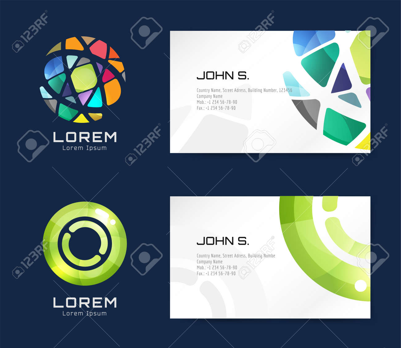 Vector globe logo business card template abstract arrow design vector vector globe logo business card template abstract arrow design and creative identity idea blank paper stock illustration reheart Gallery