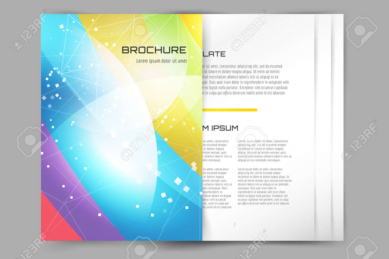 Business Card Template. Abstract Triangle Design And Creative ...