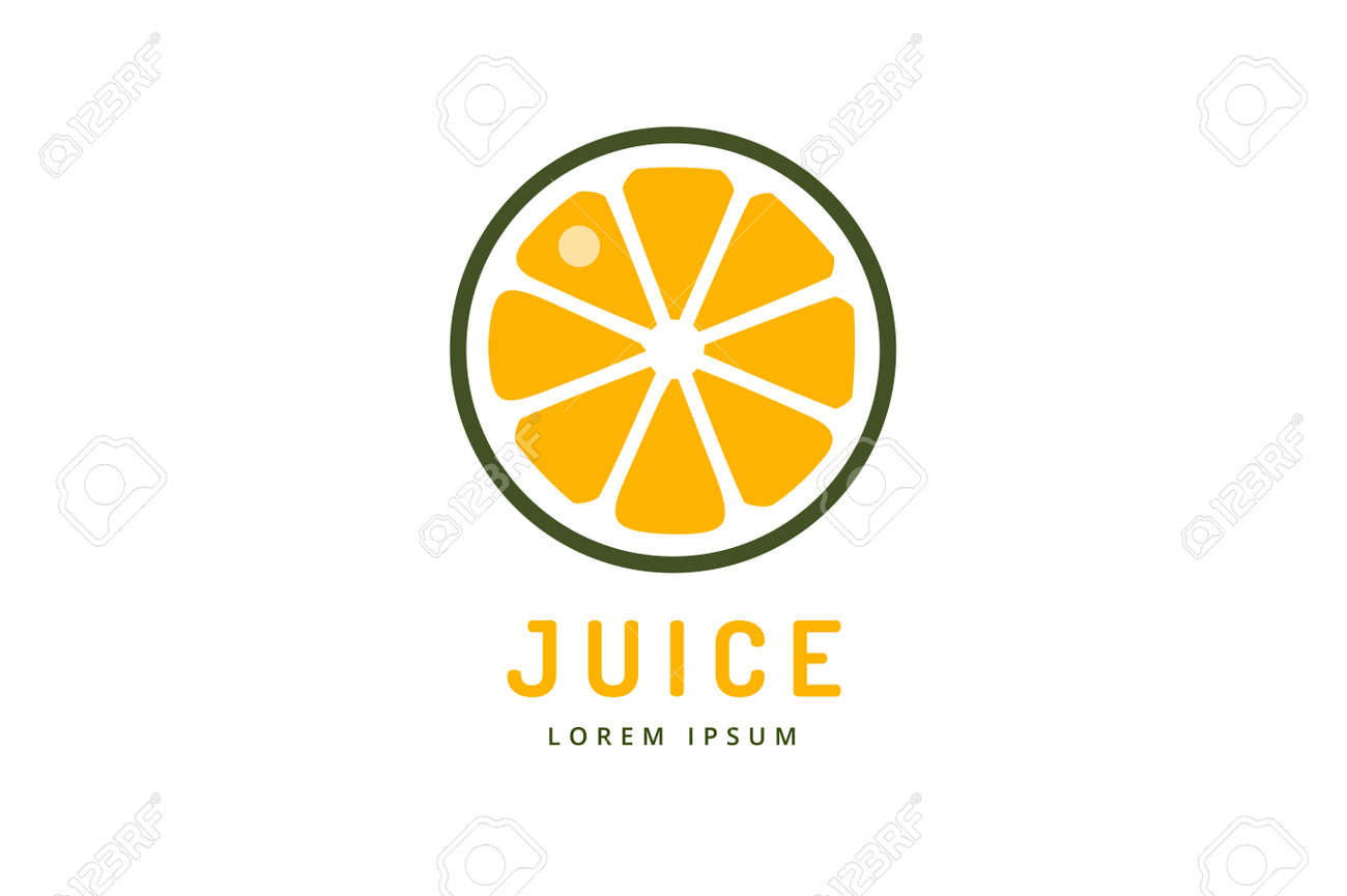 lime or lemon fruit drink logo icon template design orange juice rh 123rf com  orange juice logo design
