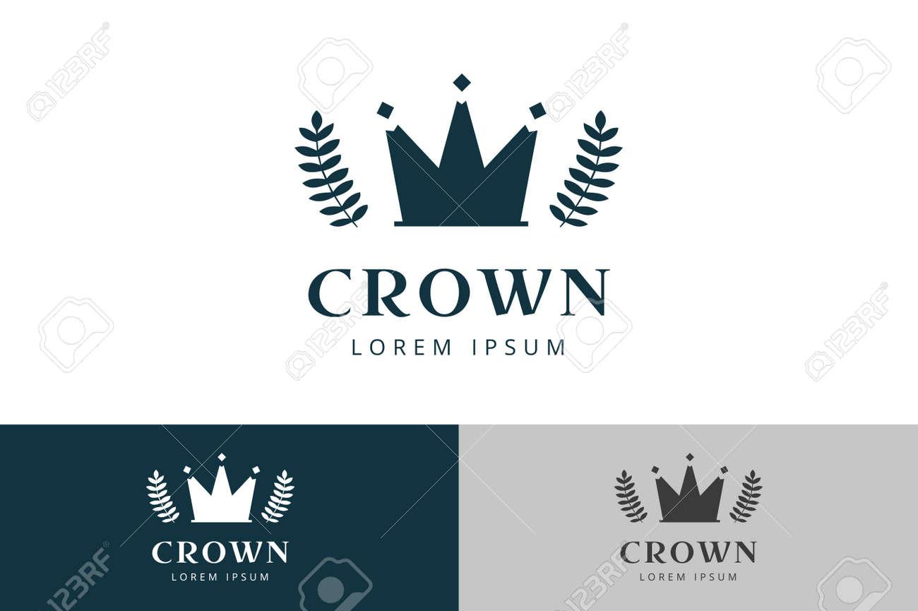 Corona Abstracta Plantilla De Logotipo Vectorial. Logo Hotel ...