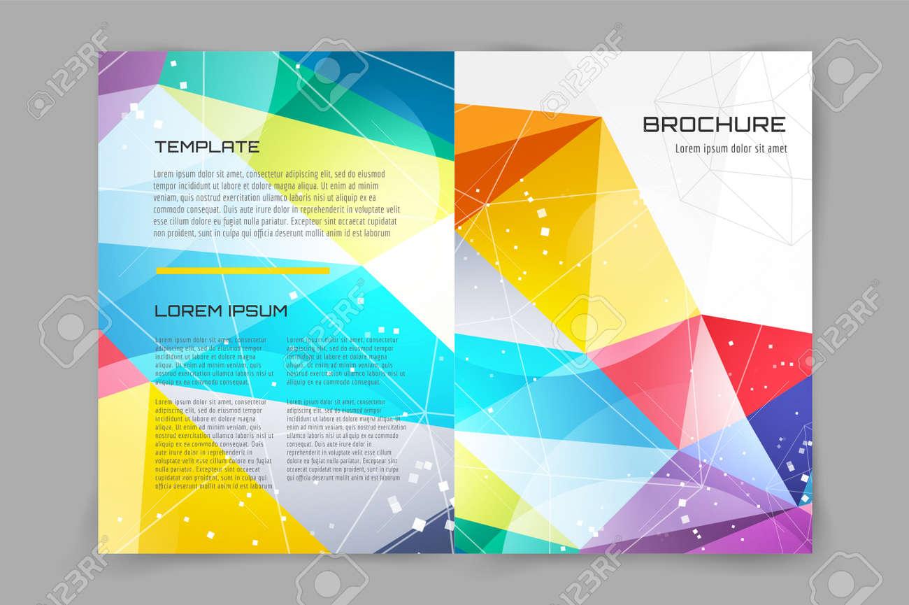 Folleto O Volante Resumen Plantilla De Diseño. Libro De Diseño De ...