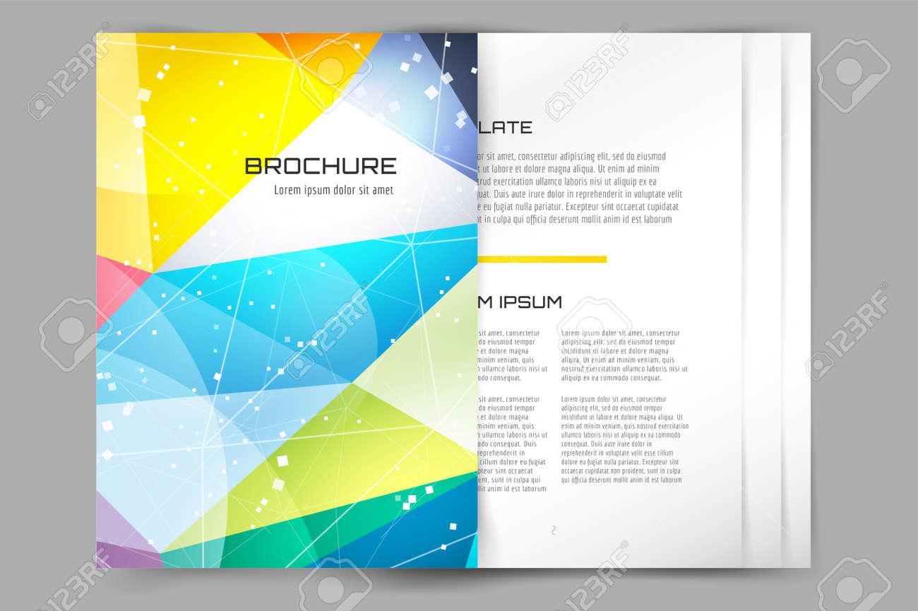 Abstrakt Broschüre Oder Flyer Design-Vorlage. Buch-Cover-Design ...