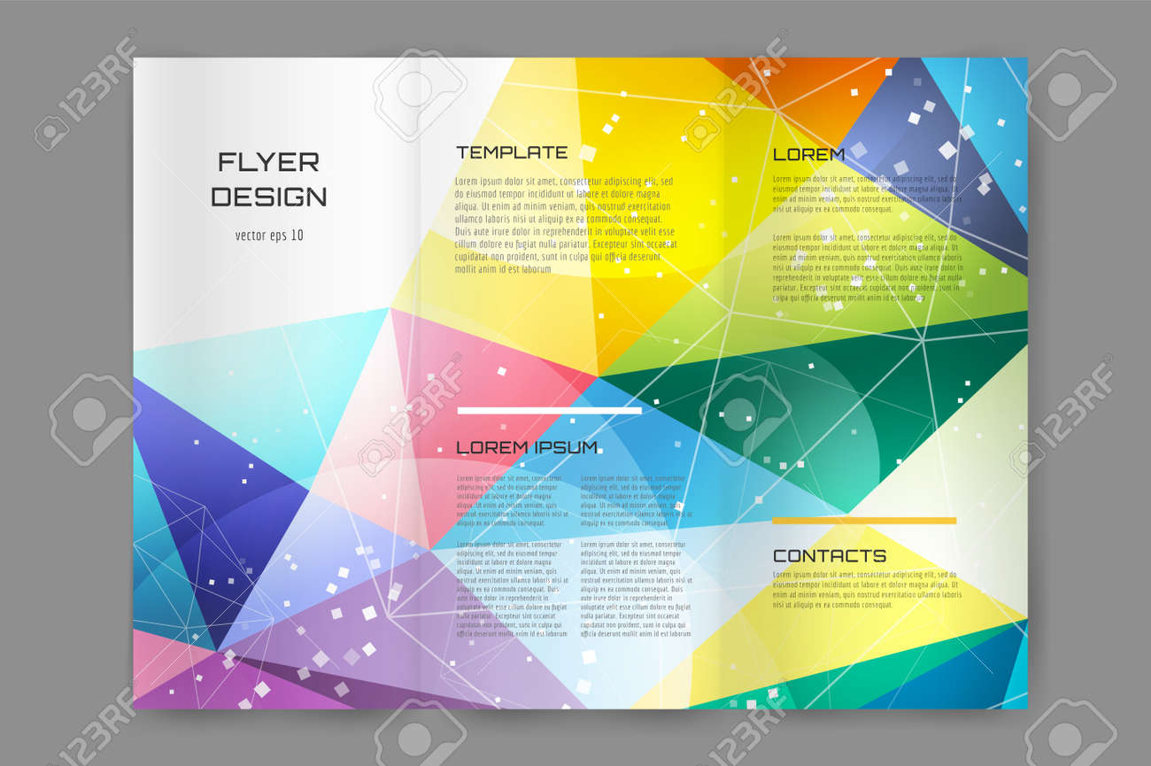 abstract brochure or flyer design template book cover design