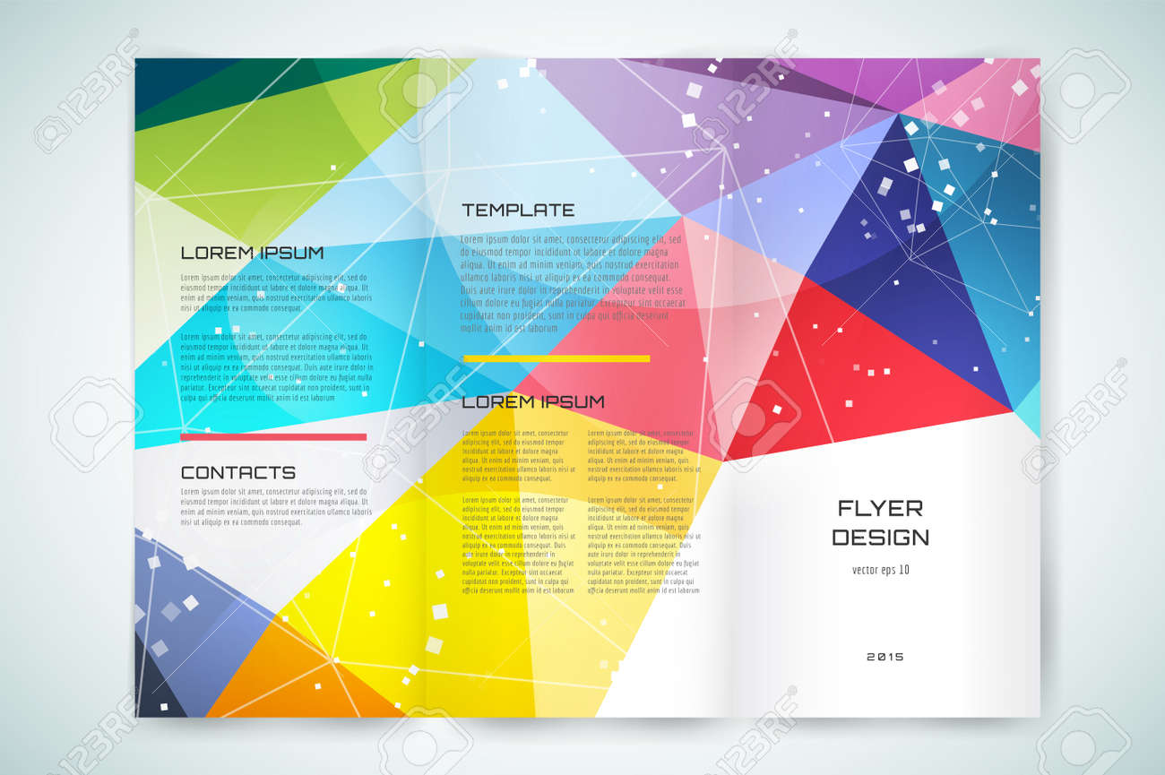 Abstract Brochure Or Flyer Design Template. Book Cover Design ...