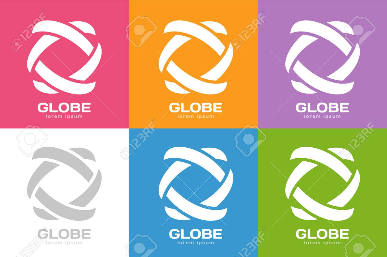 Technology orbit web rings logo  Vector circle ring logo design
