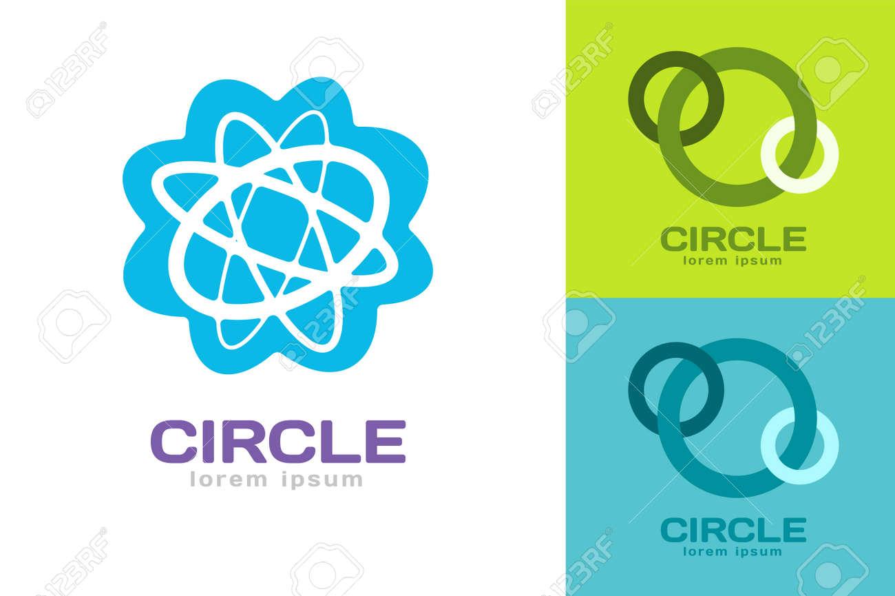 Technology Orbit Web Rings Logo. Vector Circle Ring Logo Design ...