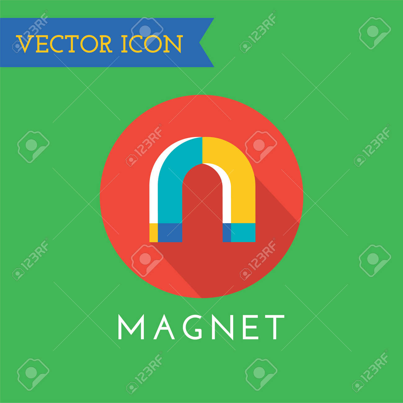 Magnet Icon Technology Money Or Commerce Concept And Mobile