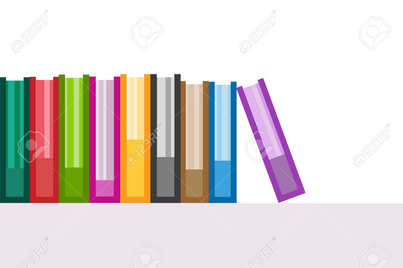 Bücher Symbole Gesetzt. Verkauf Hintergrund. Back To School ...