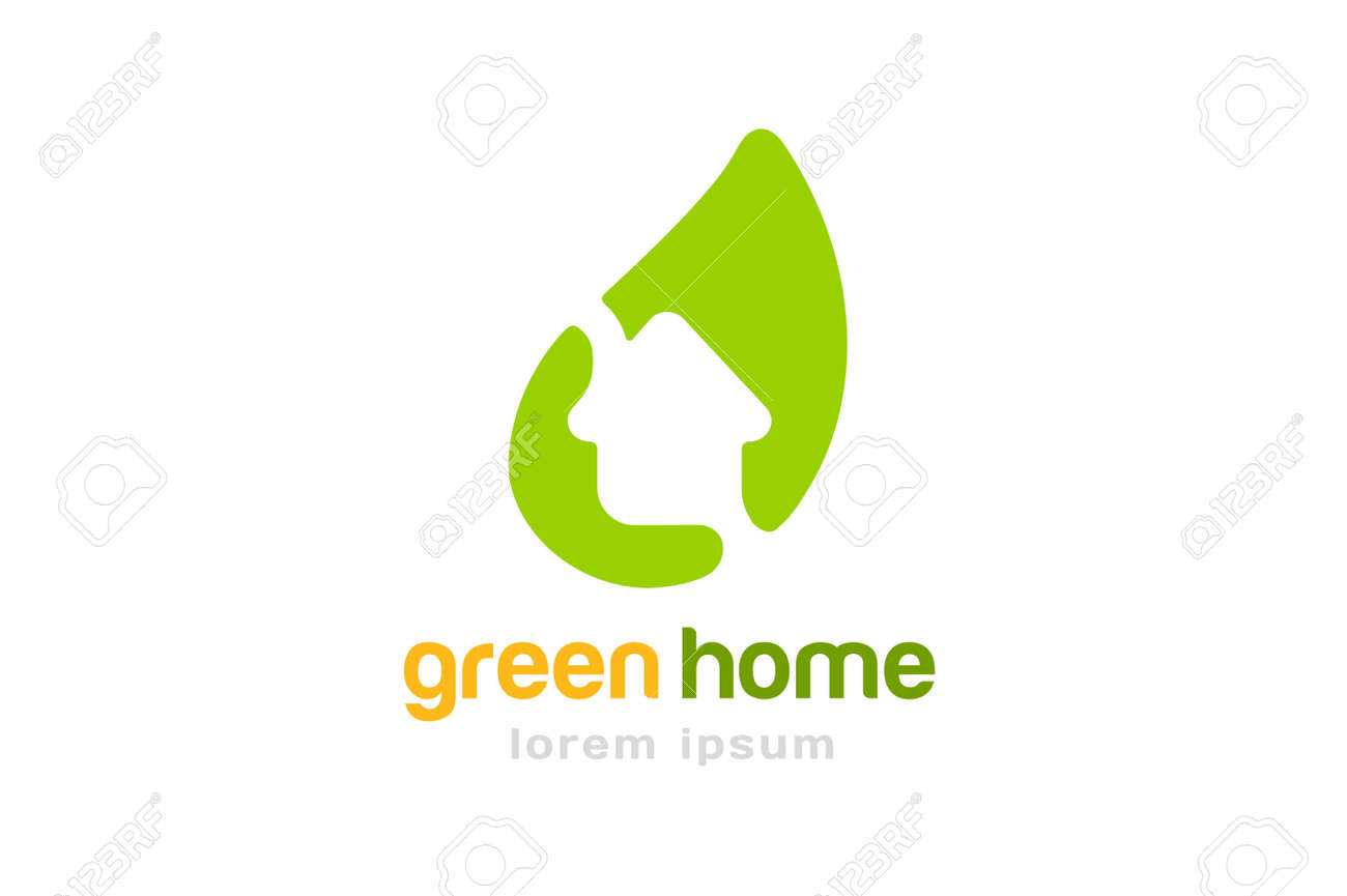 Grünes Haus Zuhause. Haus Oder Hausdach, Hypotheken-und Bankwesen ...