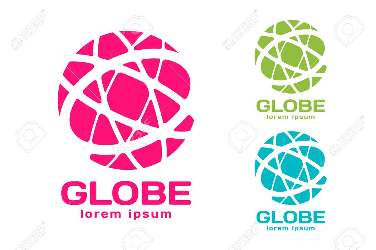 vector abstract earth circle logo design earth logo globe logo