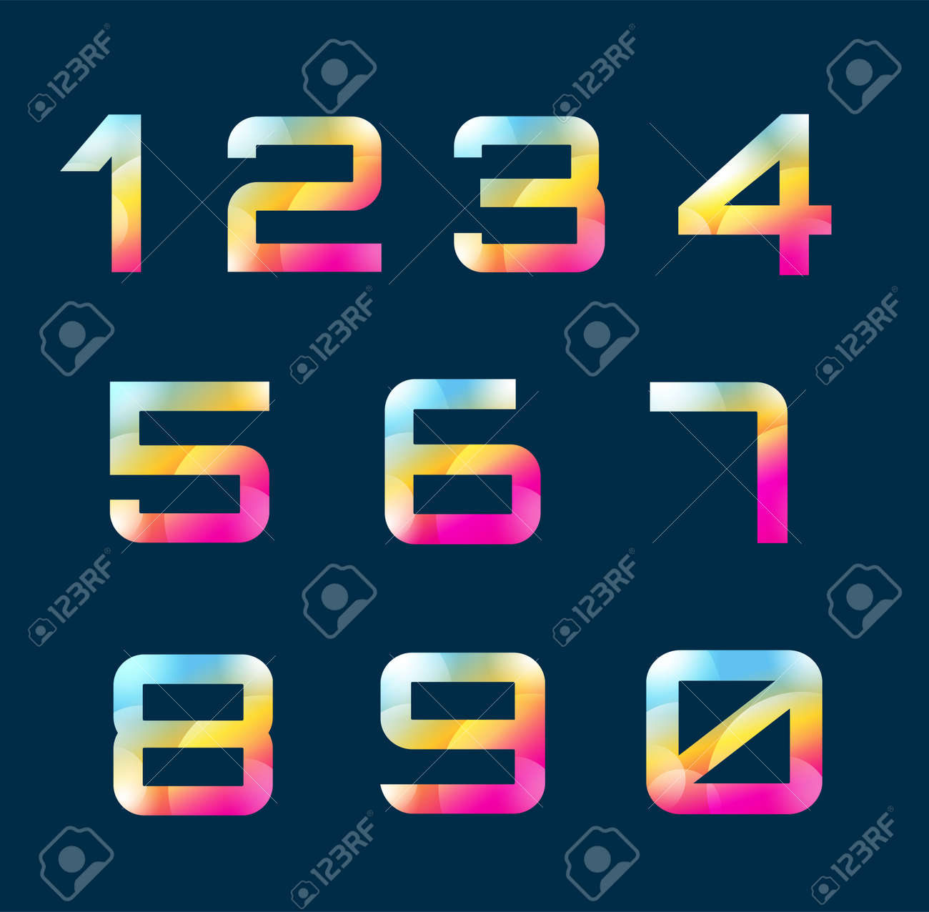 numbers 1 9 letters vector numbers logo icons set numbers symbols silhouette