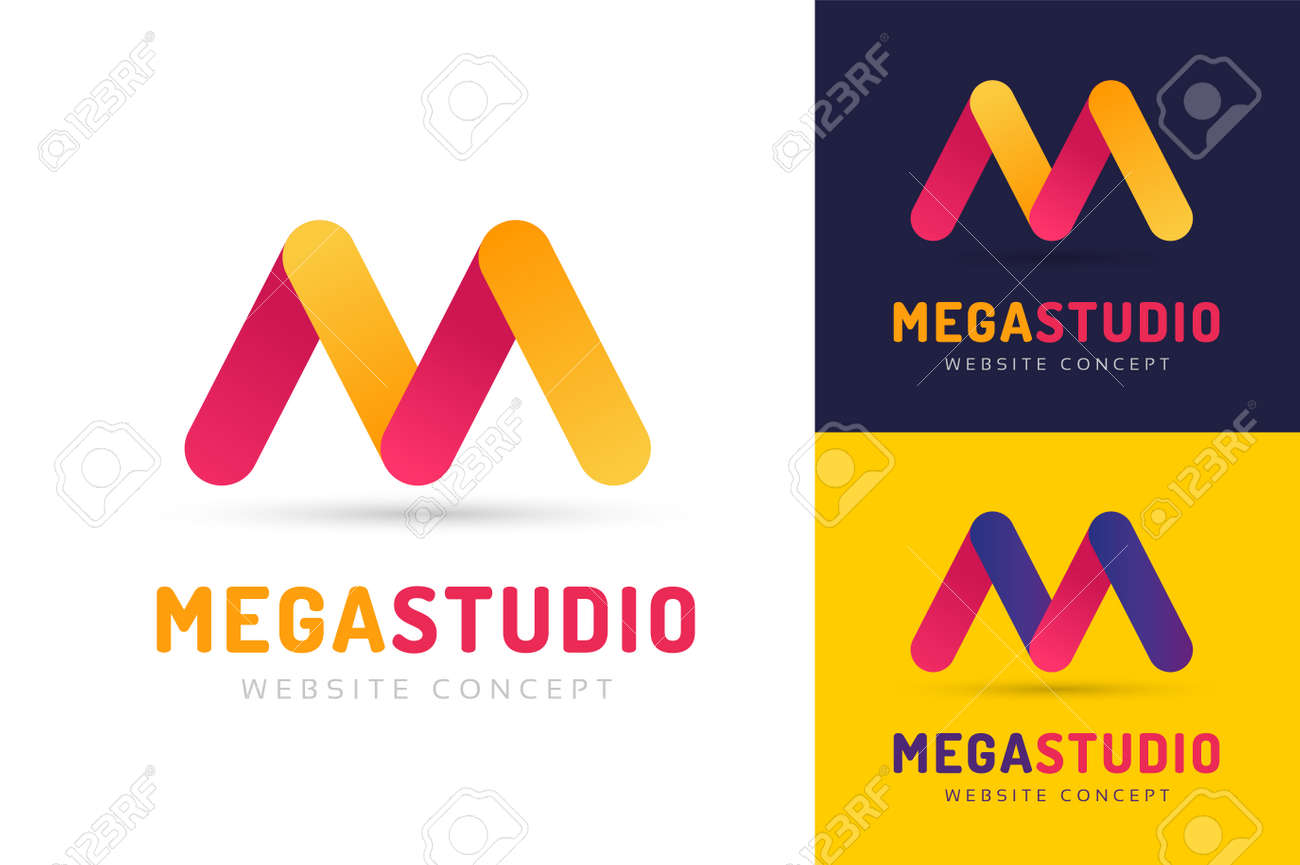 Abstract M Letter Vector Logo Icon Template Web