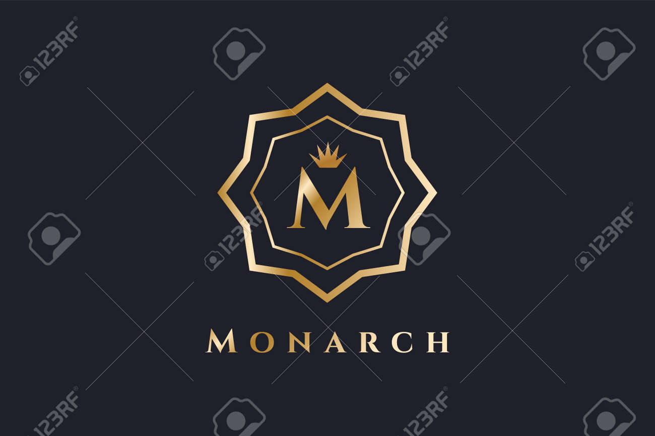 Royal Vector Template. Hotel . Kings Symbol. Royal Crests Monogram ...