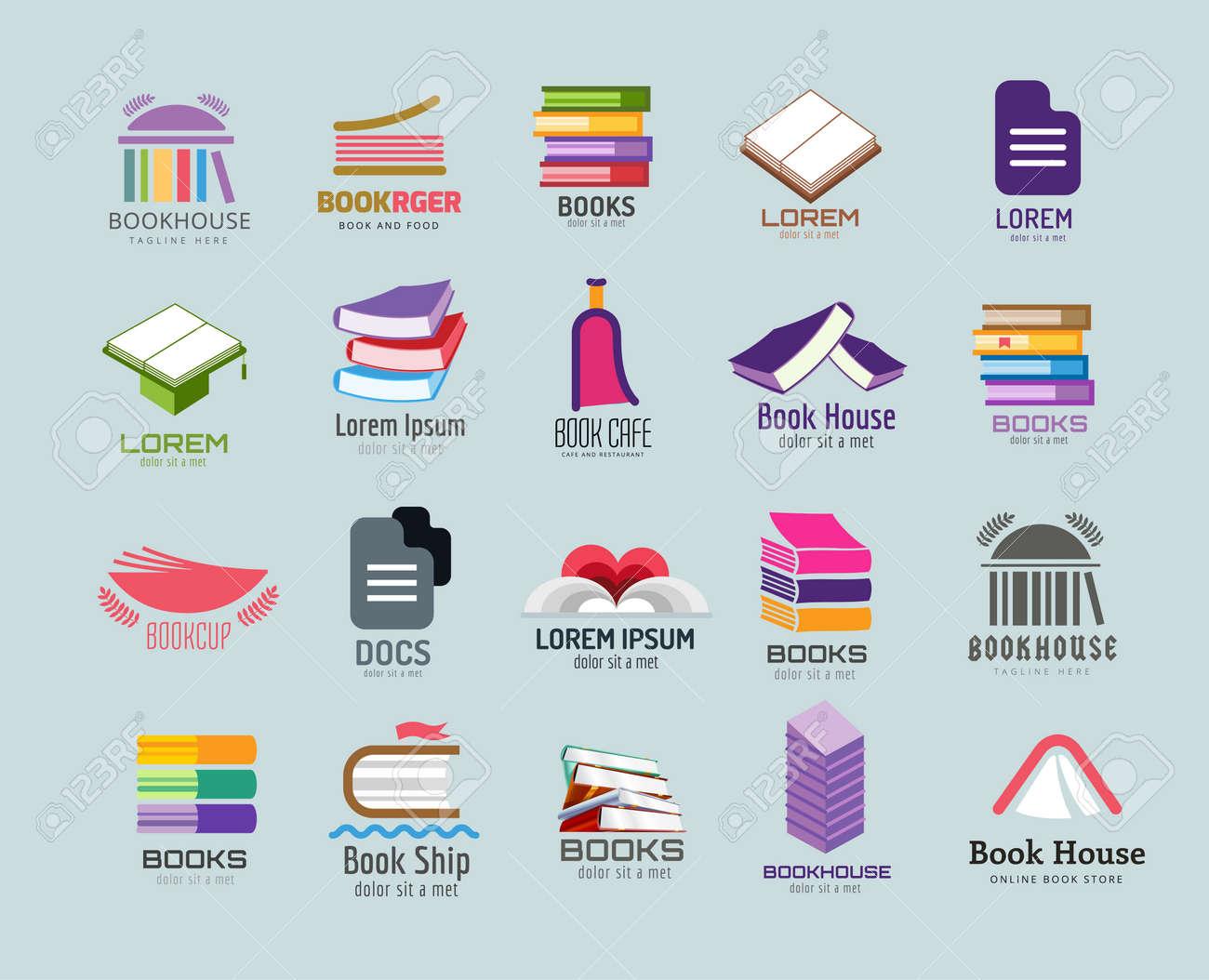 Buch Vektor-Vorlage Festgelegt. Bücher. Buchen Sie Geöffnet ...