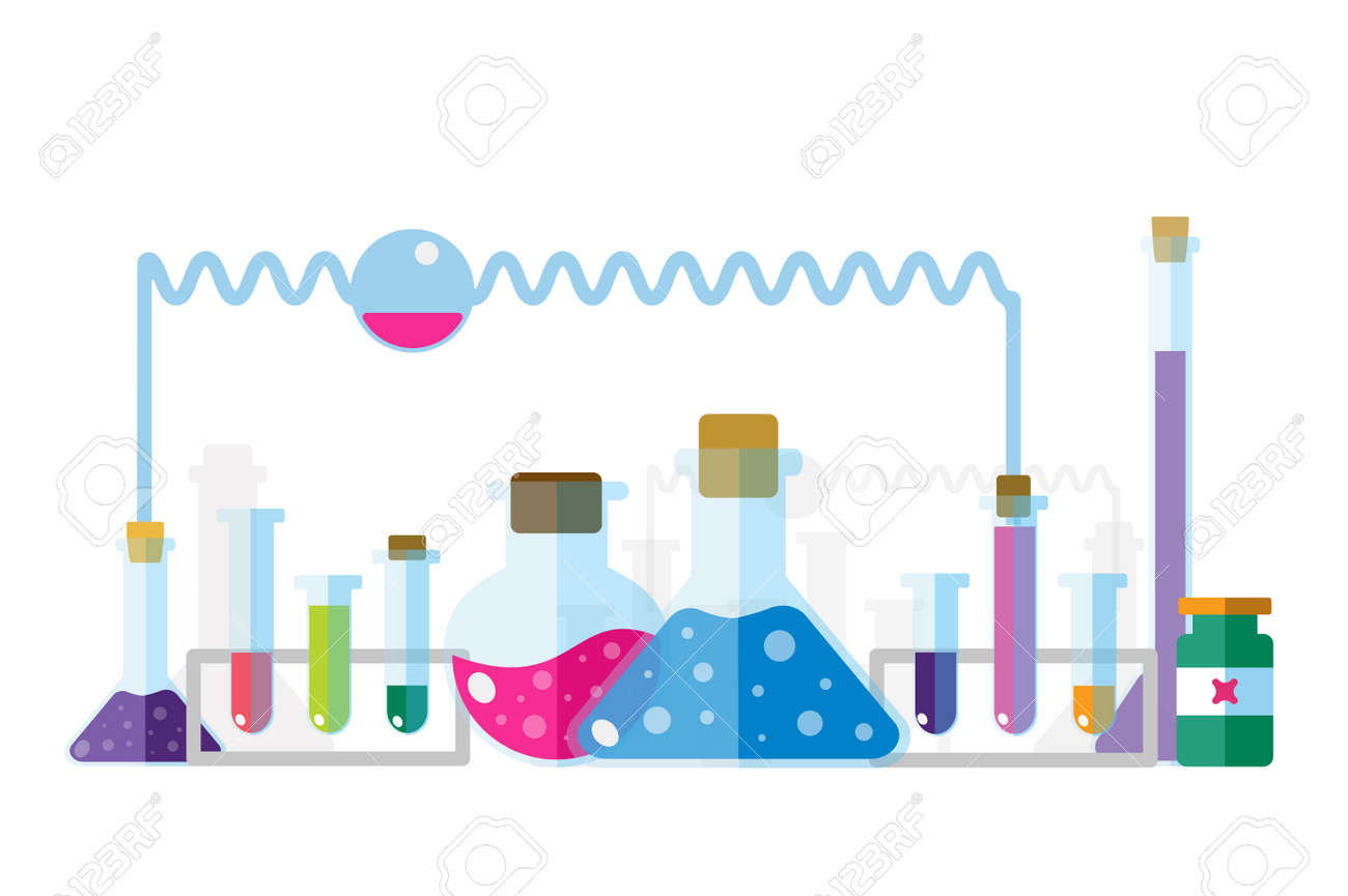 Science Lab Icons Isolated Vector Set Education Laboratory