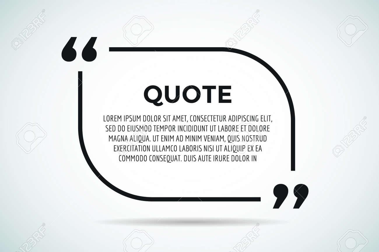 quote blank template quote bubble empty template quote design