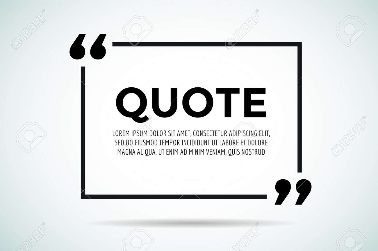 quote blank template quote bubble empty template quote design