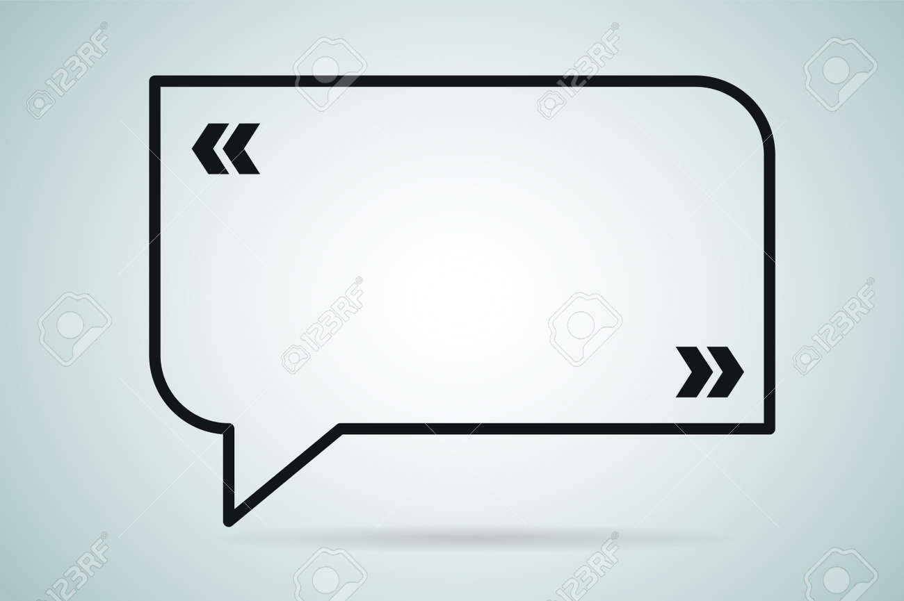 Quote Bubble Vector Blank Template. Quote Bubble Icon. Empty ...