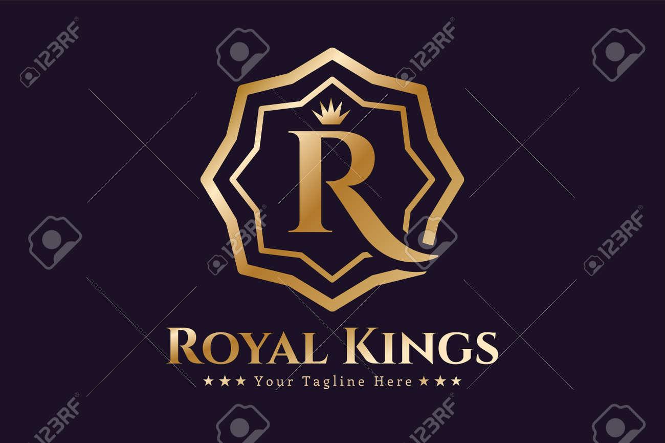 Plantilla Real Vector Logo. Logo Hotel. Símbolo De Reyes. Crestas ...