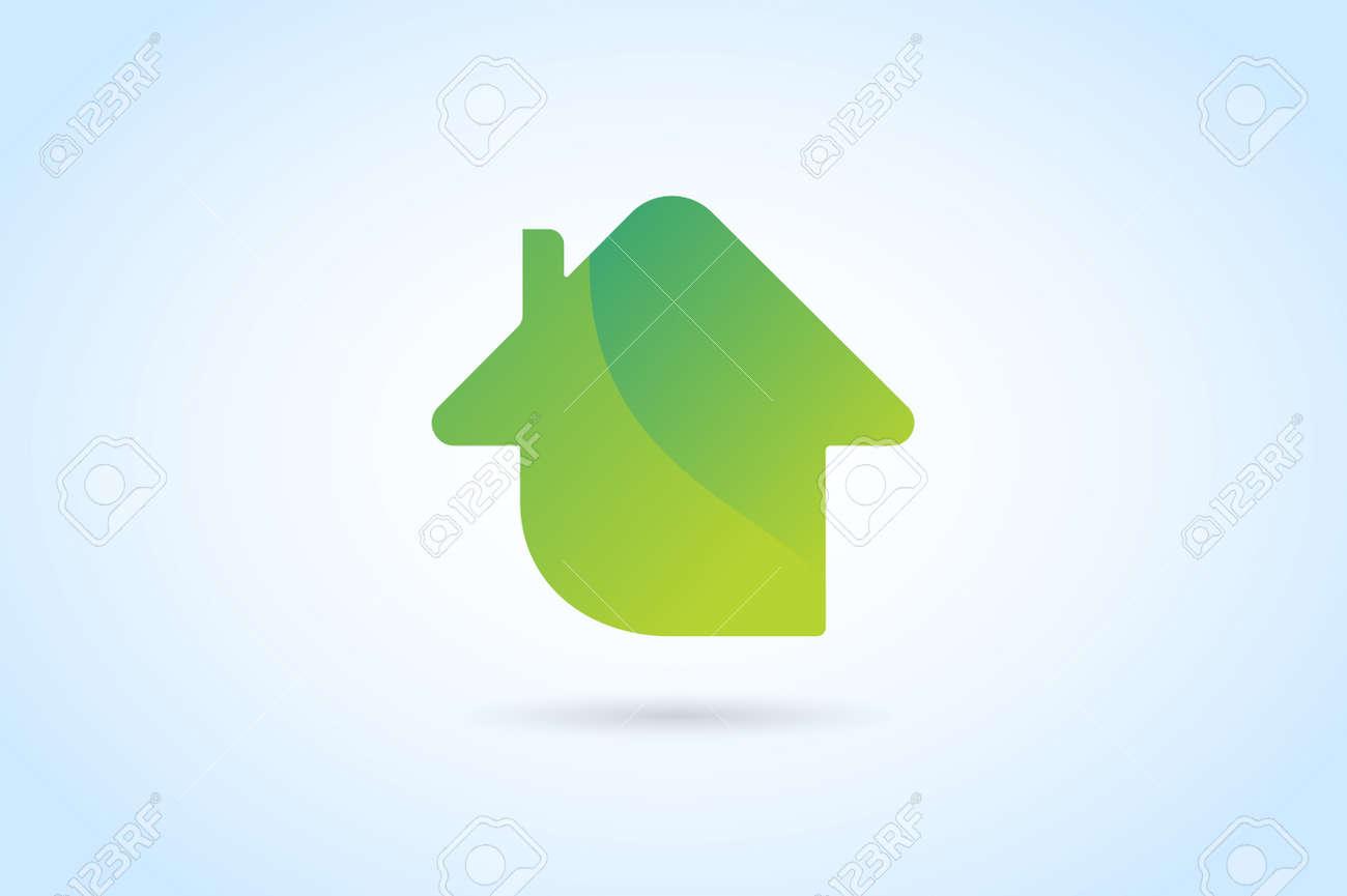 Home Logo green house home vector logo house logo nature house logo
