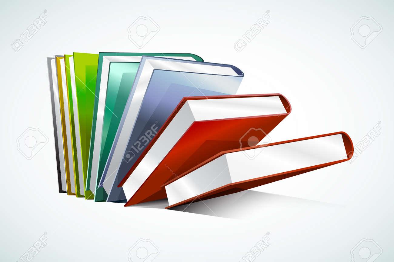Buch 3D-Vektor-Illustration Isoliert Auf Weißem. Zurück Zur Schule ...