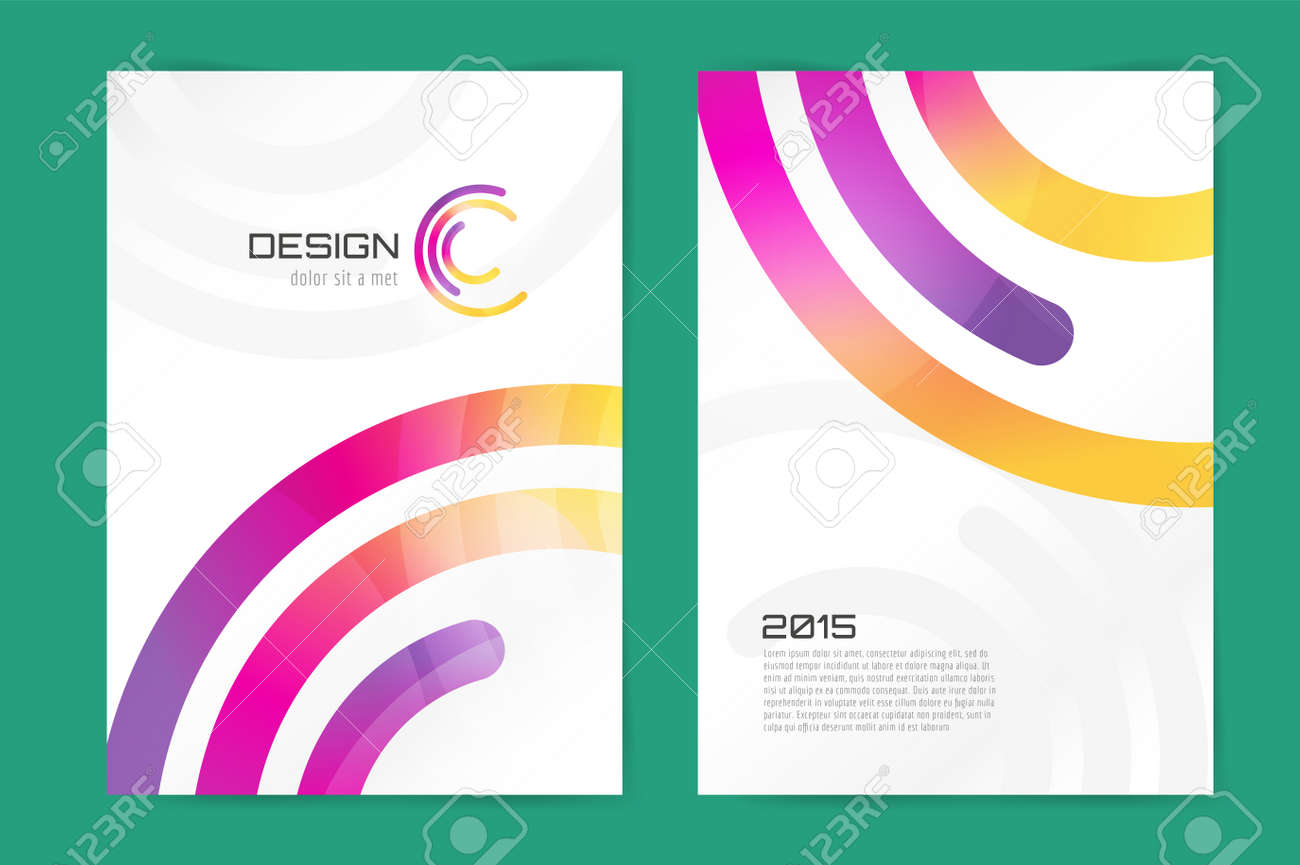 Abstract Brochure Or Flyer Design Template Book Design Blank - Template for brochure