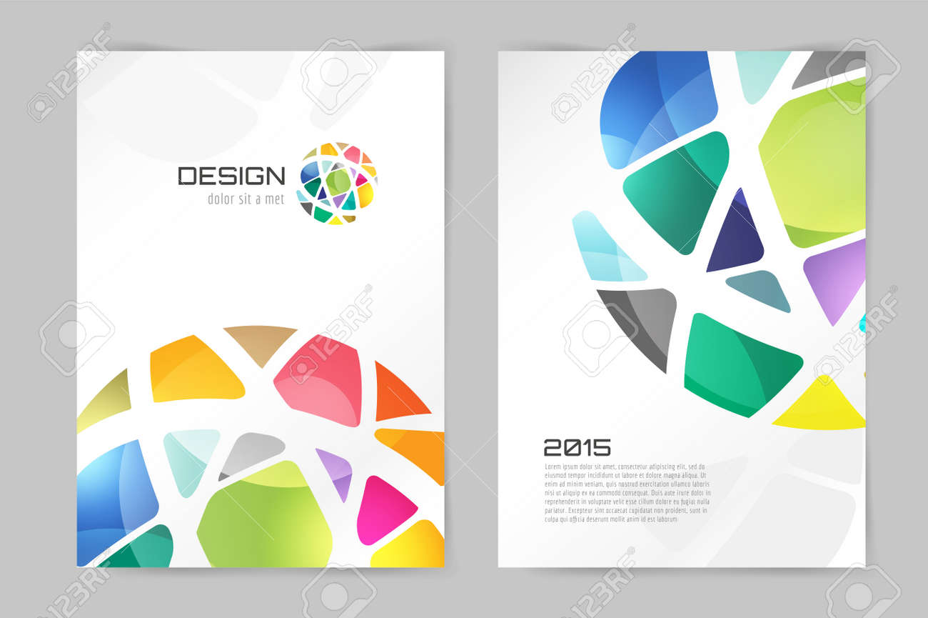 abstract brochure or flyer design template book design blank