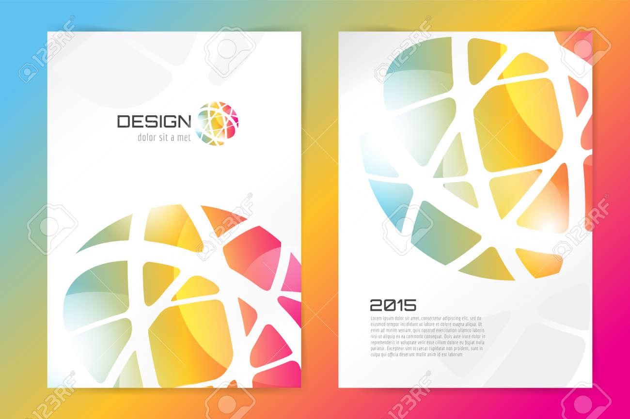 抽象のパンフレットやチラシ デザイン テンプレートです。本設計、空白