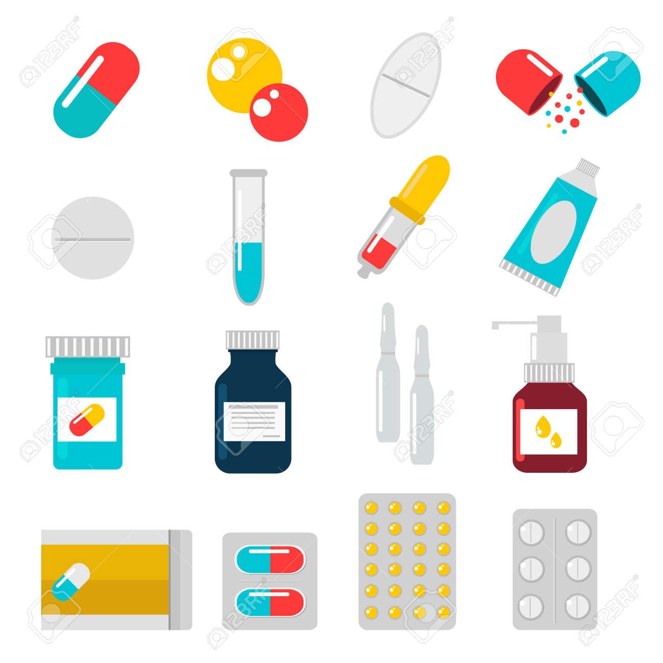pills capsules icons vector flat set medical vitamin pharmacy rh 123rf com pills vector free vectra pills