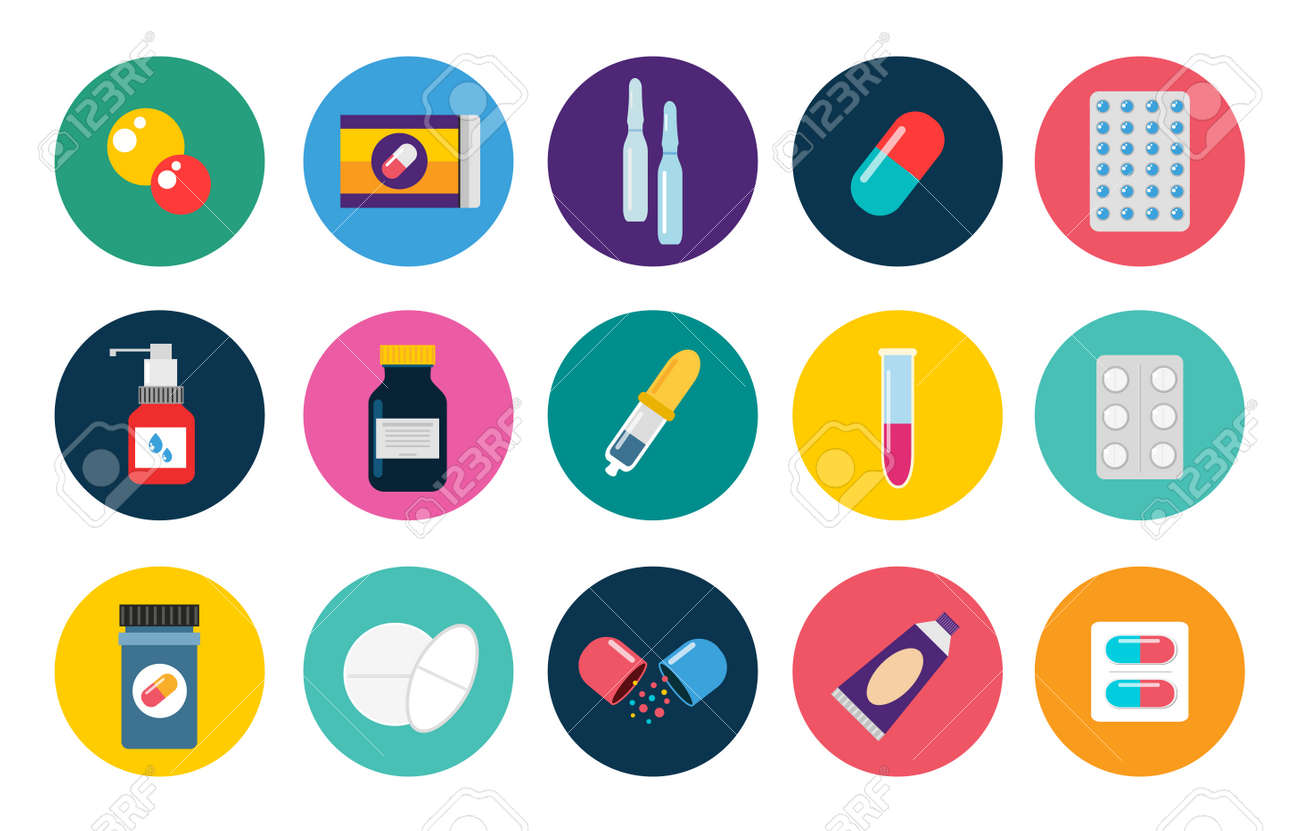 pills capsules icons vector flat set medical vitamin pharmacy rh 123rf com vector fills vector pills reviews