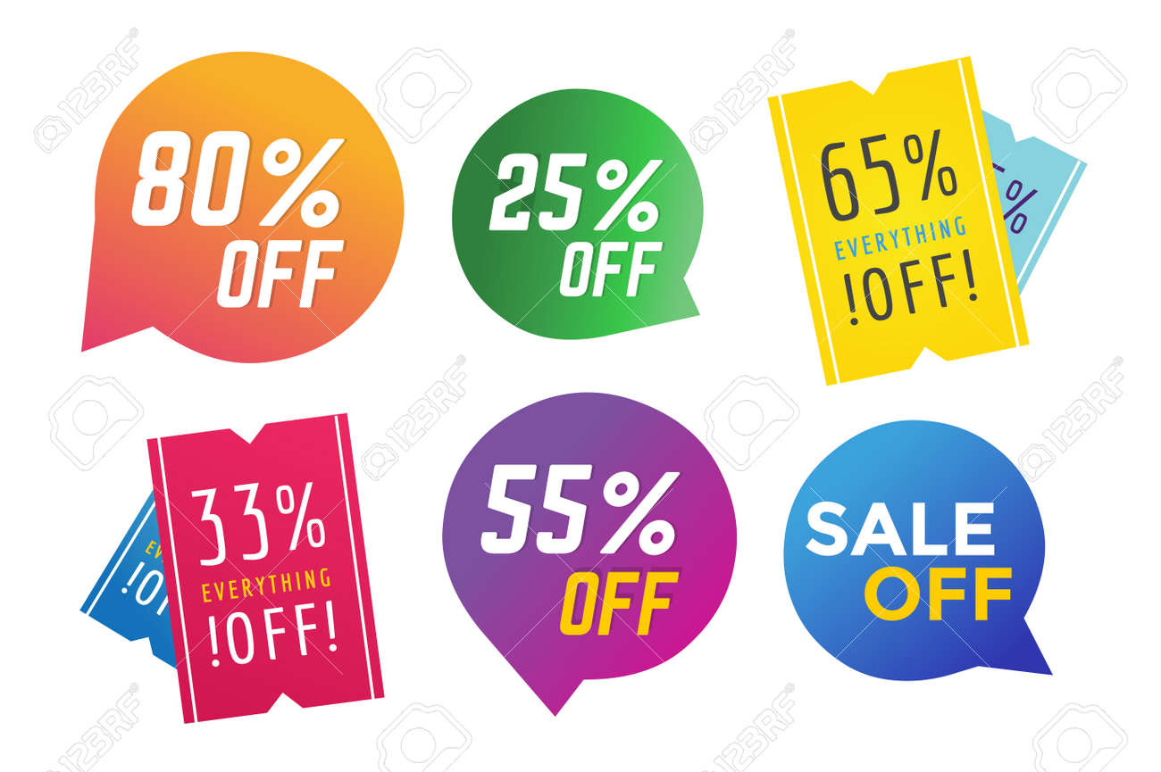 sale off vector tags banner sale vector banners and sale label