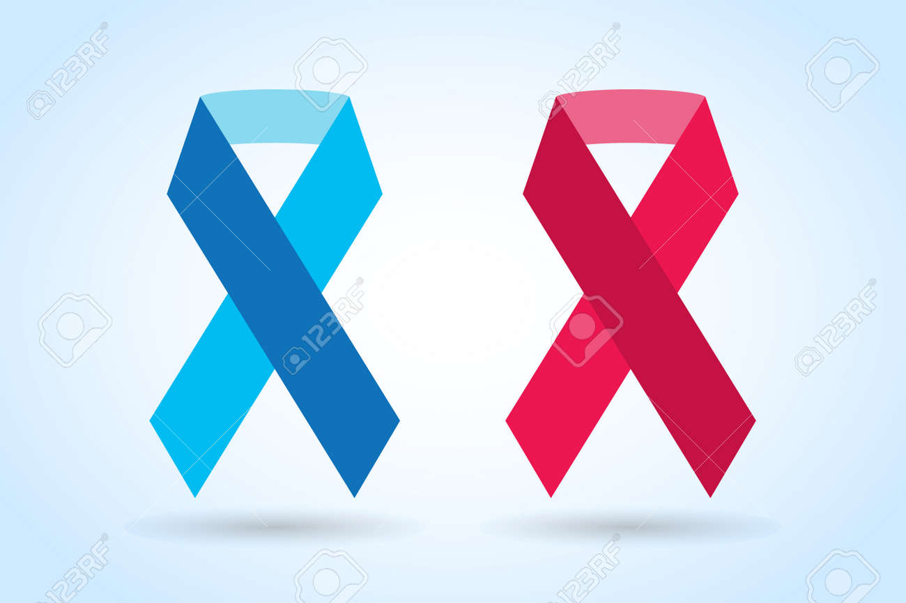Stop Cancer Ribbon Medical Logo Icon Concept. Cancer Ribbon, Breast ...