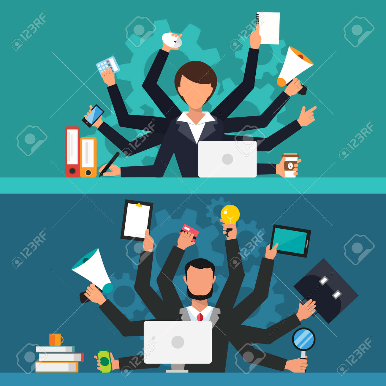 office job stress work vector illustration stress on work office job stress work vector illustration stress on work business w and man many