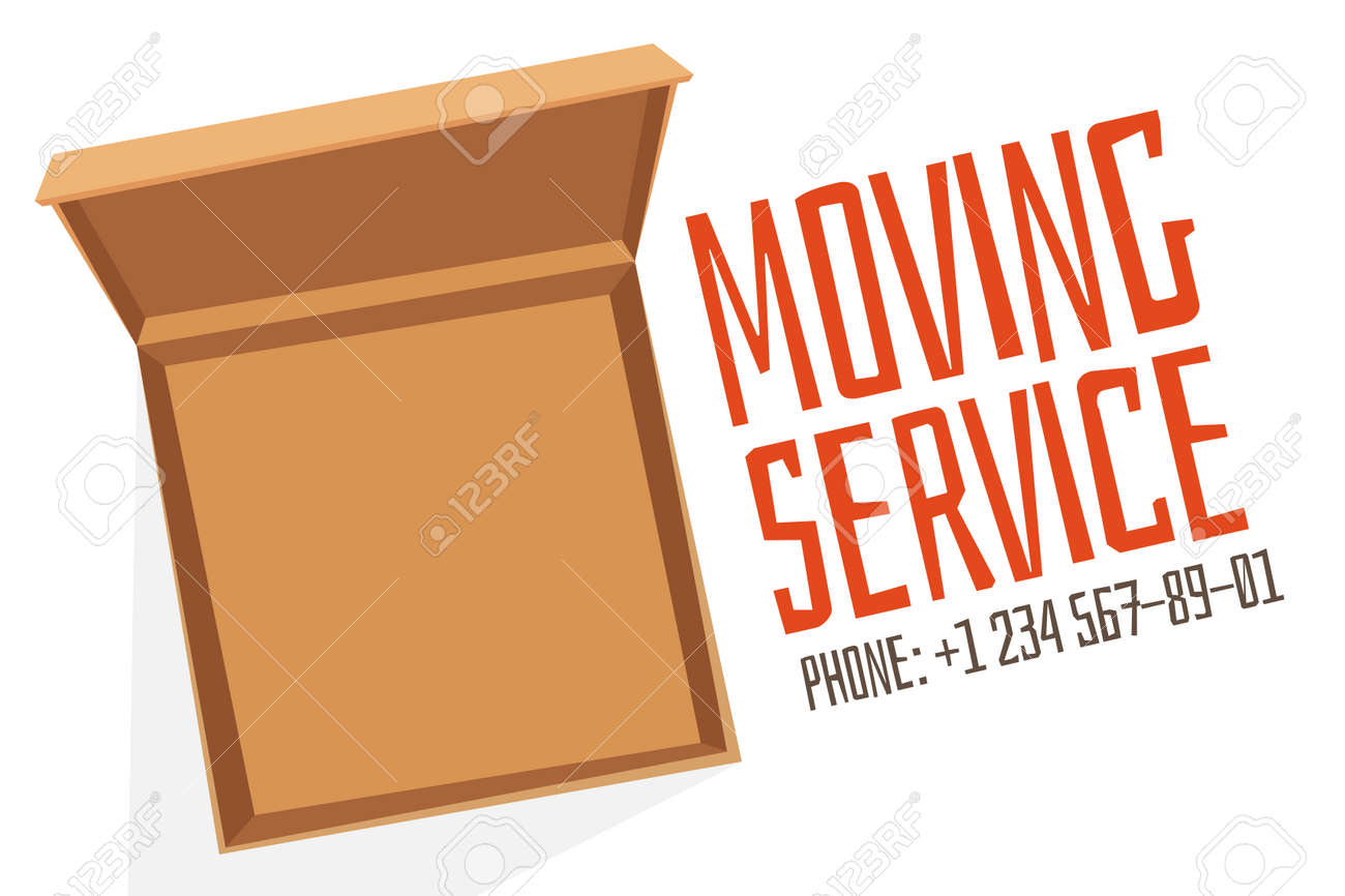 move service box open vector advertisment banner move open box move service box open vector advertisment banner move open box craft box banner