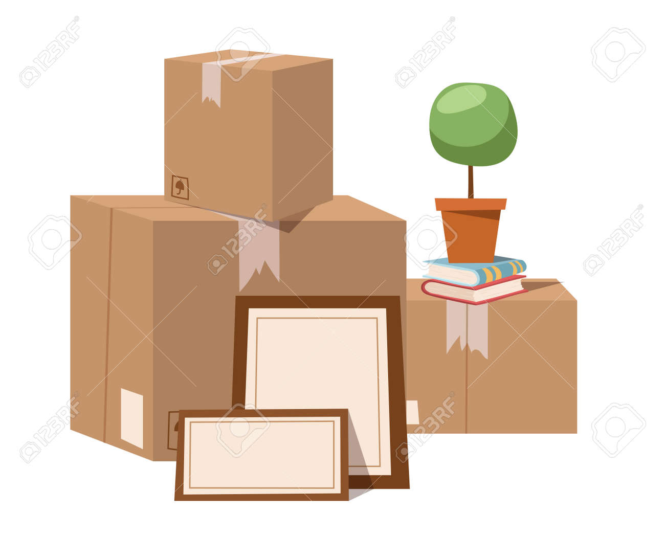 move service box full vector illustration move box business move service box full vector illustration move box business craft box isolated on background
