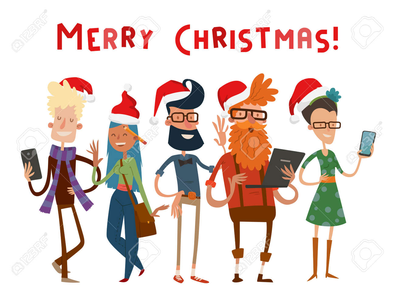 Business team people christmas greeting card partners greeting business team people christmas greeting card partners greeting card command people isolated design studio reheart Image collections