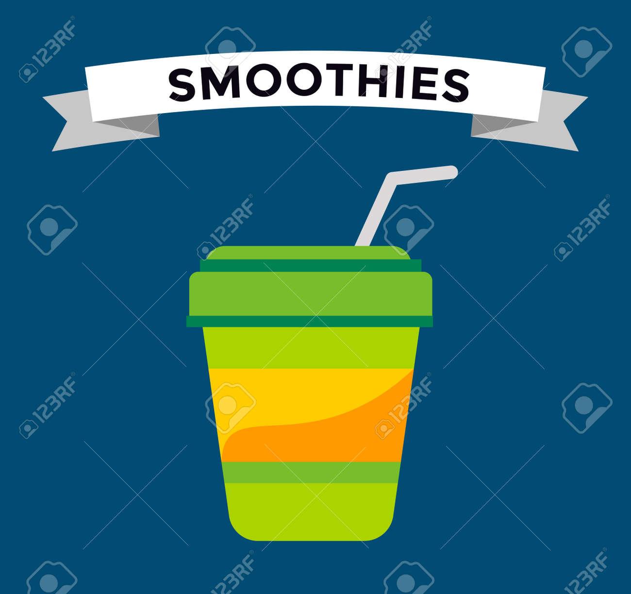 Fast-Food-Smoothie Getränke Glas. Fruchtgetränk Logo Icon Vorlage ...