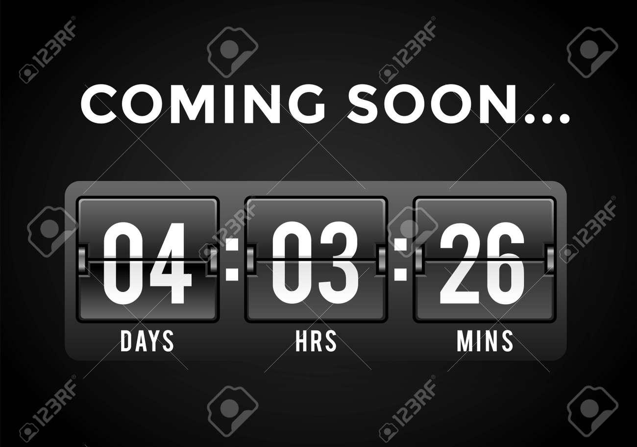Countdown clock digits board panels timer  Website timer counter