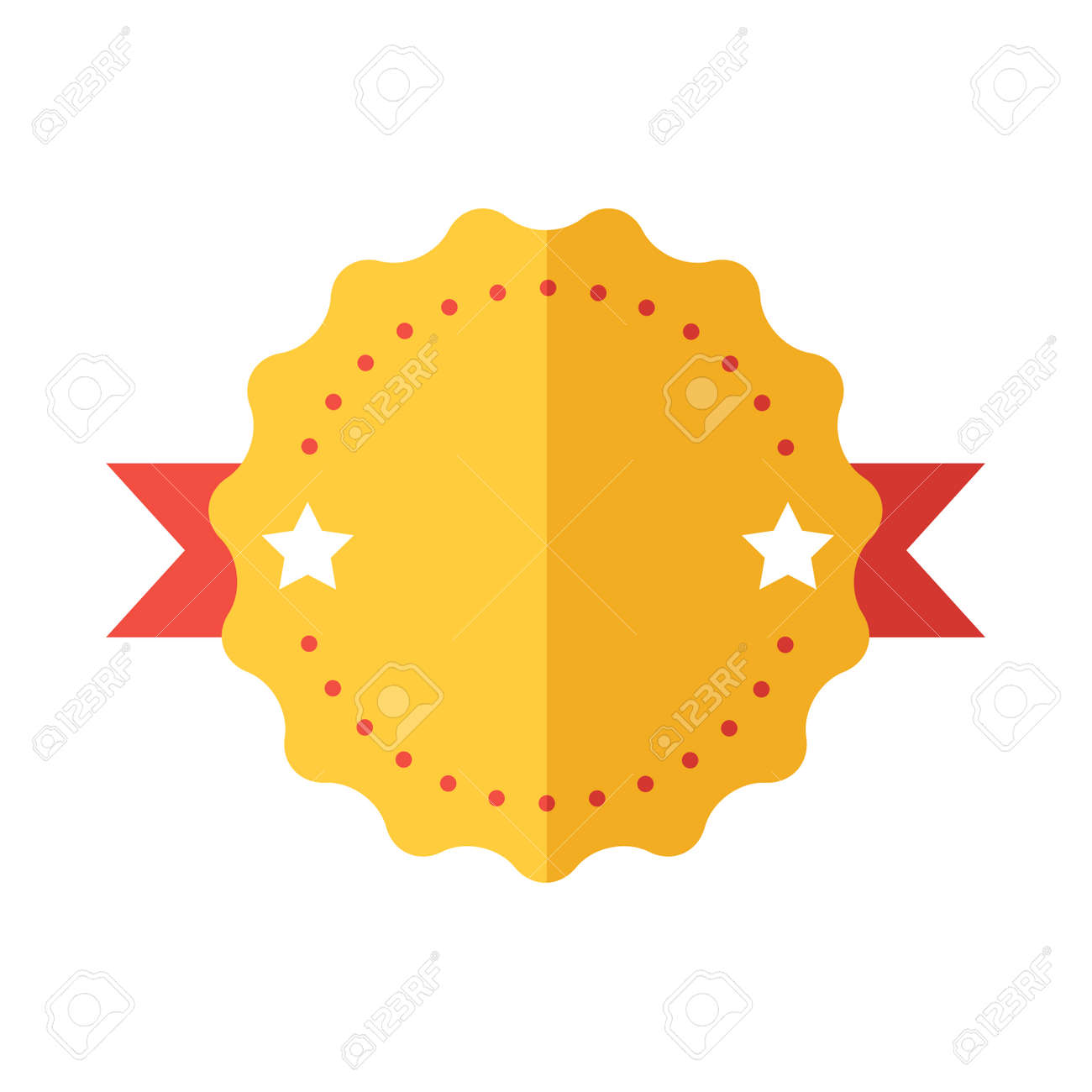 modern flat design badge icon vector badges flat modern style