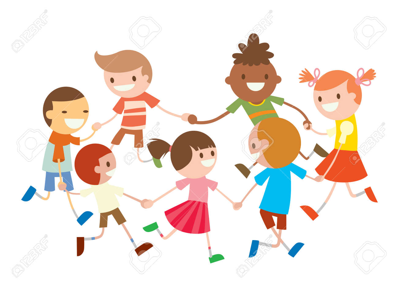 Children Round Dancing Party Dance In Baby Club Illustration Royalty Free Cliparts Vectors And Stock Illustration Image 49476667