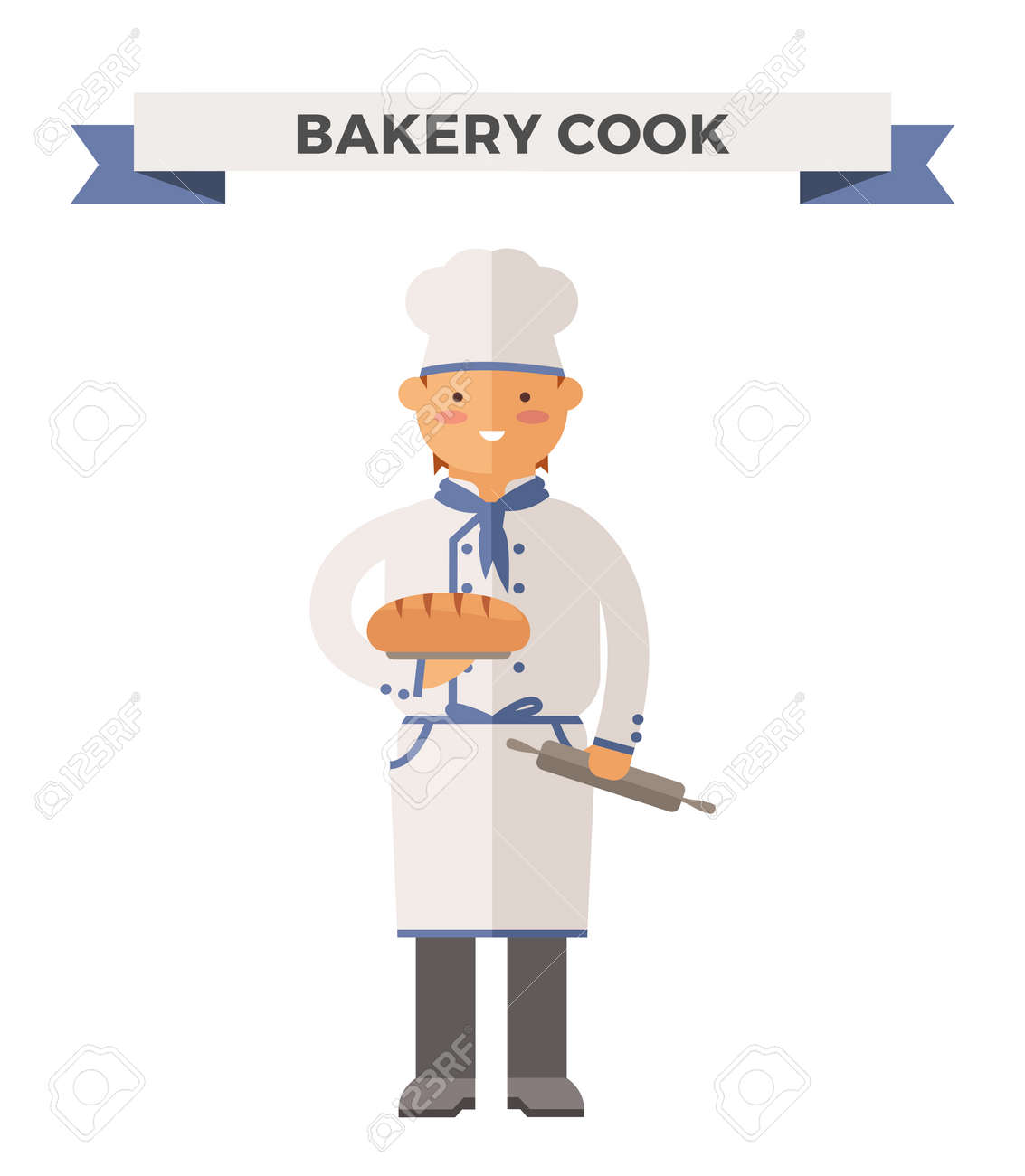 Vector Cooking Chef Illustration Cartoon Cook Icon