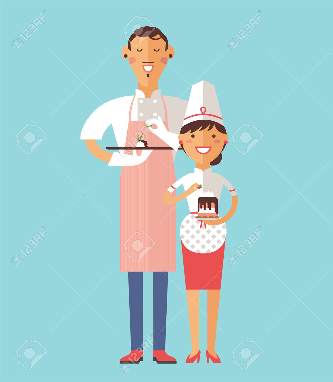 Vector Cooking Chef Vector Illustration. Cartoon Cook Chef Icon ...