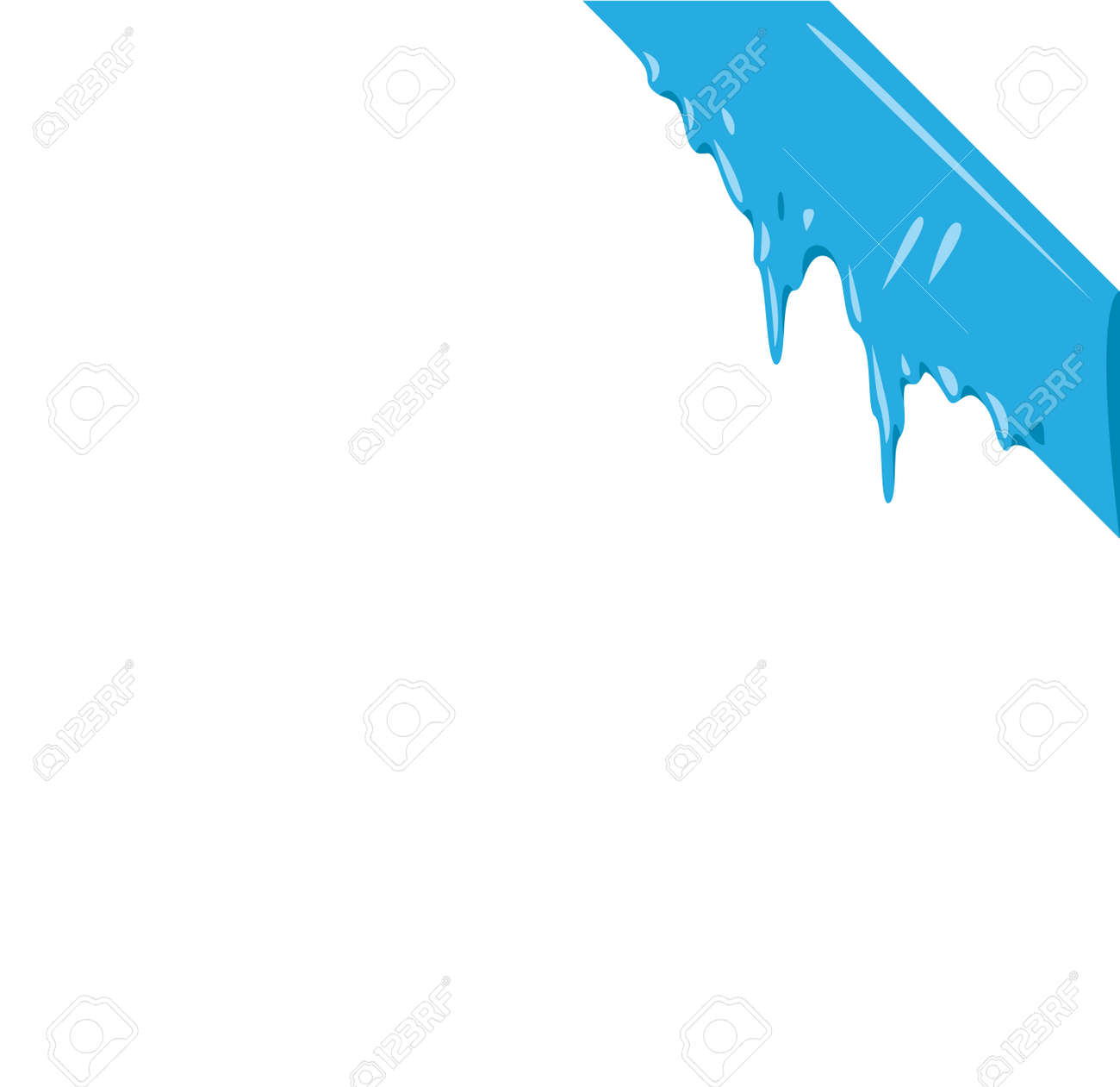 collection of frozen icicle snow winter vector banner icicle